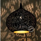 Filigrain hanglamp zwart/goud