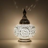 Tafellamp pompoen transparant mozaiek