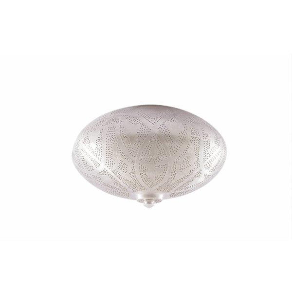 Egyptische Filigrain plafondlamp mat zilver
