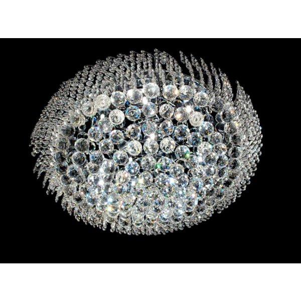 Plafondlamp Asfour kristal in Chroom