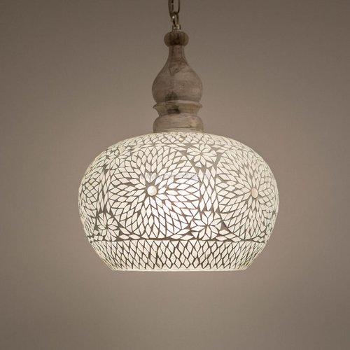 Hanglamp open transparant mozaïek in 2 diameters