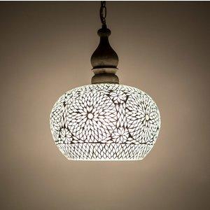 Hanglamp open transparant mozaiek