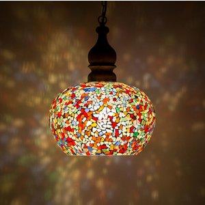 Hanglamp gekleurd mozaiek