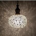 Hanglamp zwart/wit mozaiek