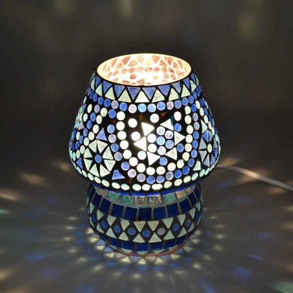 Tafellamp pad blauw mozaiek