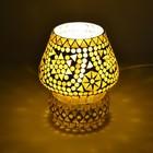 Tafellamp pad bruin/beige mozaiek