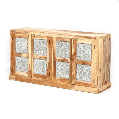 Dressoir 4 deurs transparant mozaiek
