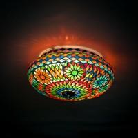 Plafondlamp gekleurd mozaiek
