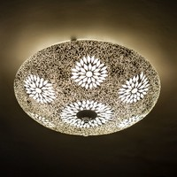 Plafondlamp transparant mozaiek