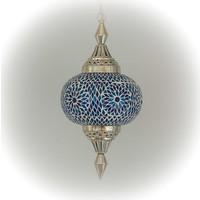 Hanglamp pompoen blauw mozaiek