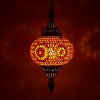 Hanglamp pompoen rood/oranje mozaiek