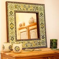 Spiegel groen mozaïek