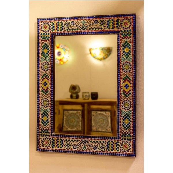 Spiegel gekleurd mozaïek