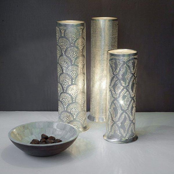 Table Lamp Tally Fan Silver