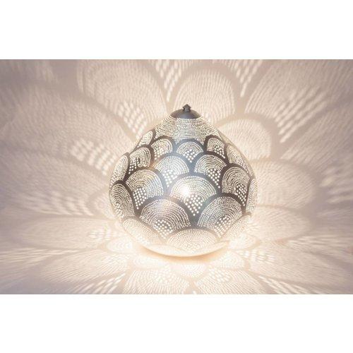 Table Lamp Princess Fan Silver