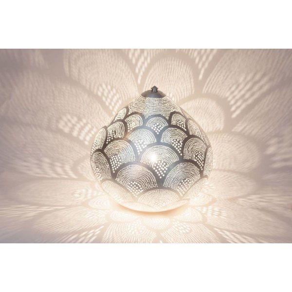 Table Lamp Princess Fan Silver