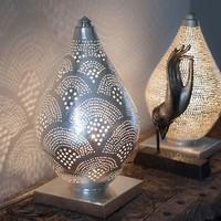 Table Lamp Elegance Mini Fan Silver