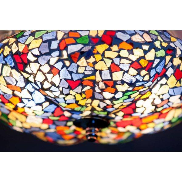 Plafondlamp gekleurd mozaïek