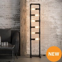 Vloerlamp 6L industrial tube
