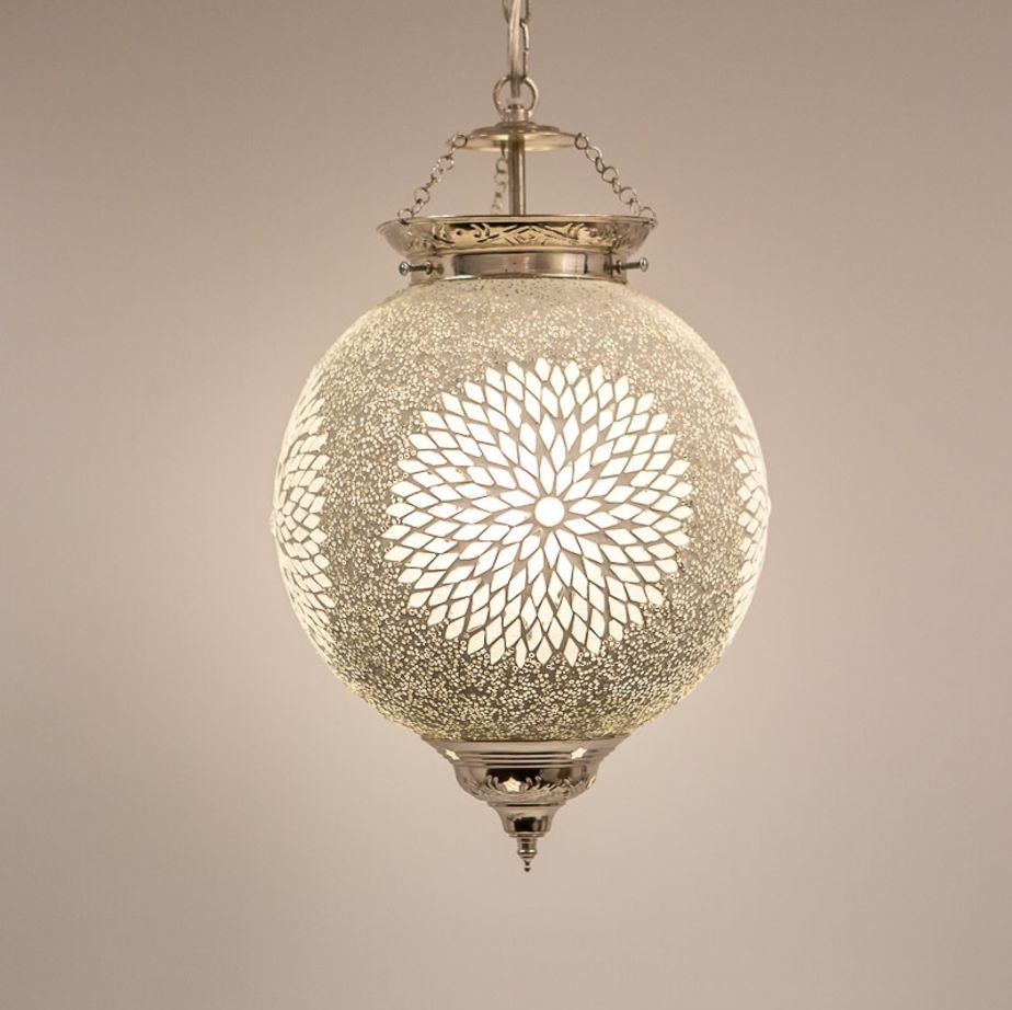 Simple cheap hanglamp bol cm transparant mozaek with for Lampen xenos