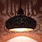 Filigrain hanglamp hout zwart/koper