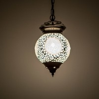 Hanglamp bol 15cm transparant mozaïek
