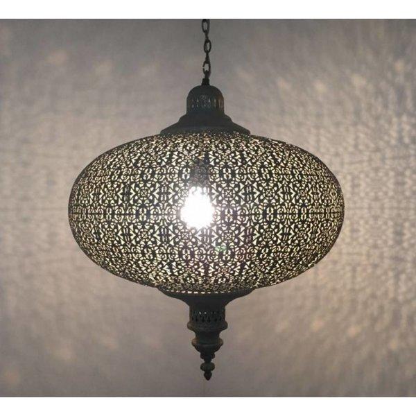 Oriëntaalse filigrain hanglamp Oud Goud kleur