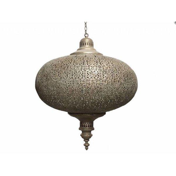Grote filigrain hanglamp Oud Goud kleur