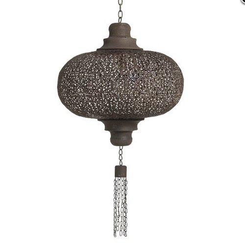 Kleine filigrain hanglamp Bruine kleur