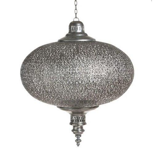 Grote filigrain hanglamp Zilver kleur