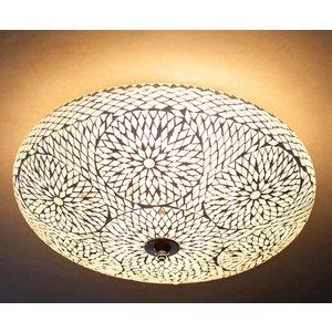 Plafondlamp 50cm transparant mozaiek