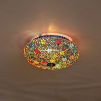 Plafondlamp 25cm gekleurd mozaiek