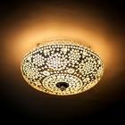 Plafondlamp 25cm transparant mozaiek