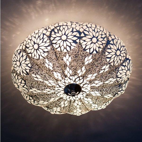 Plafondlamp 38cm transparant mozaiek