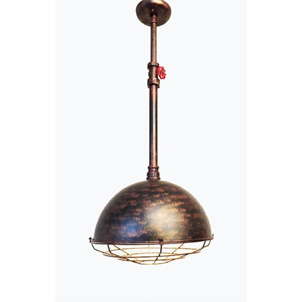 Industrial hanglamp koper + led gloeilamp cadeau