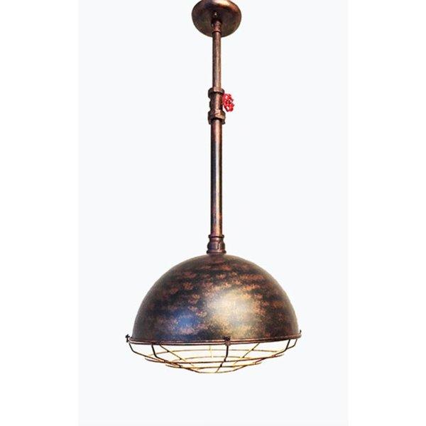 Industrial/Vintage verstelbare hanglamp koper kleur
