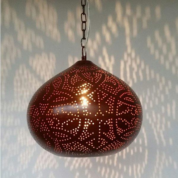 Filigrain hanglamp roest bruin