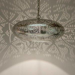 Filigrain hanglamp zilver/zilver