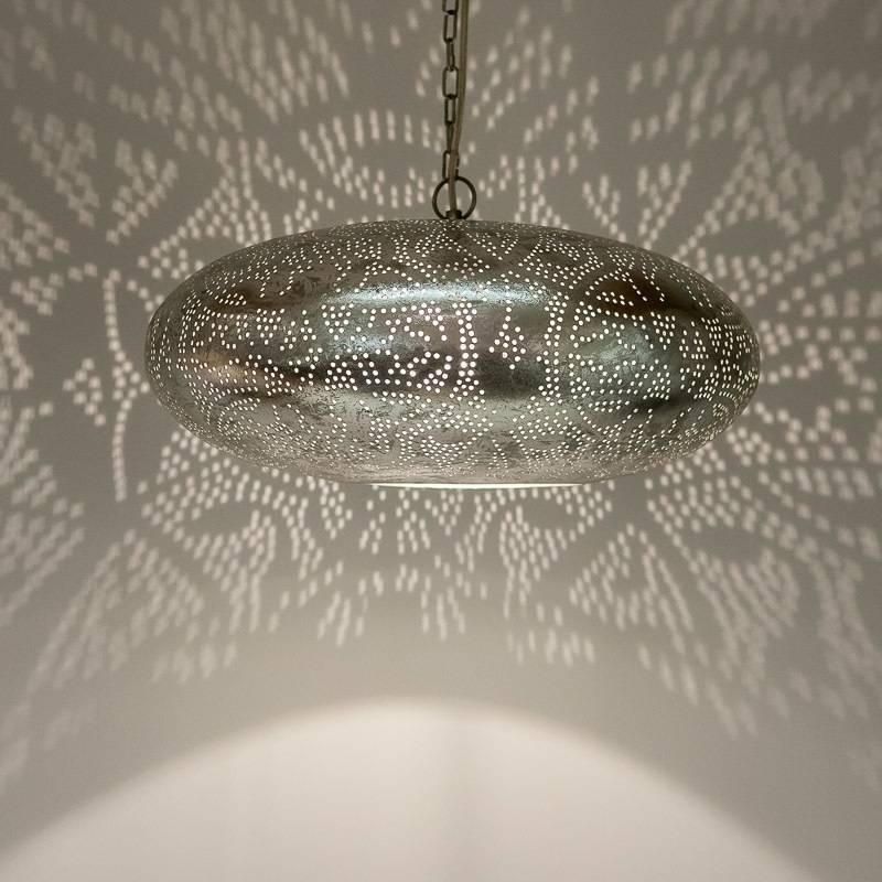handgemaakte ibiza stijl filigrain hanglamp zilver de pauw wonen