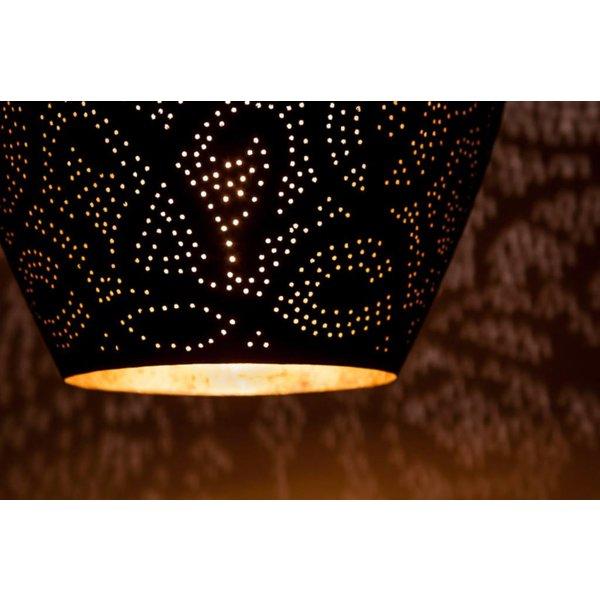Filigrain hanglamp vaas zwart/goud
