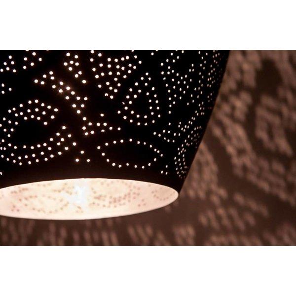 Filigrain hanglamp vaas zwart/zilver
