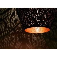 Filigrain hanglamp vaas koper/koper