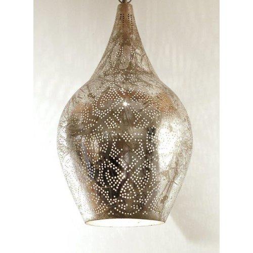 Filigrain hanglamp vaas zilver/zilver