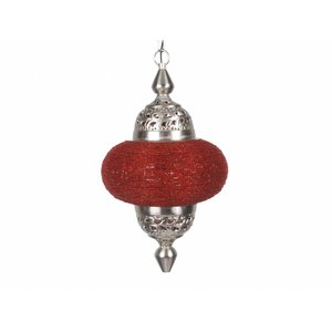Hanglamp Casablanca klein rood kleur