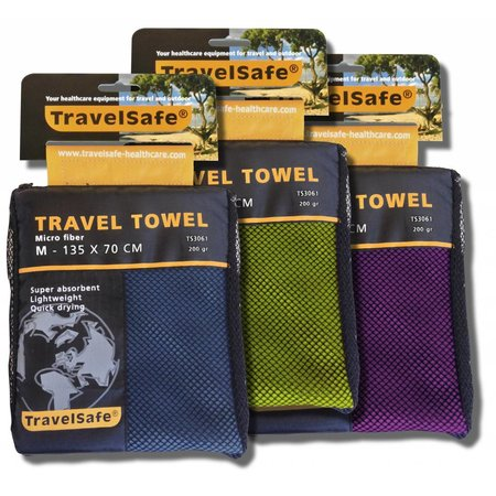 Travelsafe Microvezel reishanddoek M - 70 x 135 cm - Groen