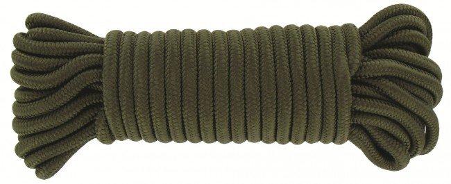 Highlander touw 9mm x 15m olive Highlander Schitterend