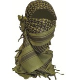 Highlander Shemagh Sjaal - 110 x 115 cm - olive / wit / rood