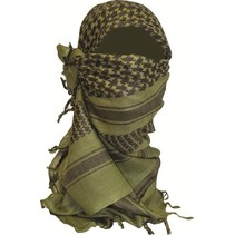 Shemagh Sjaal - 110 x 115 cm - Olive/zwart