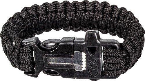 Highlander Paracord armband met fire starter - Zwart