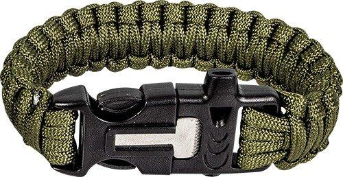 Highlander Paracord armband met fire starter - Olive